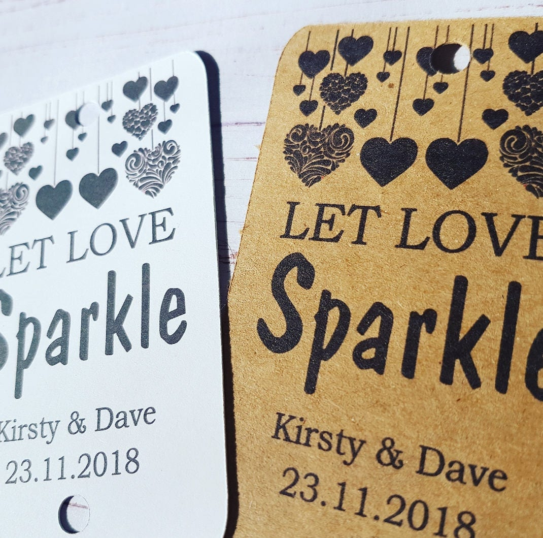 Details Little Handmade Personalized Sparkler Tags