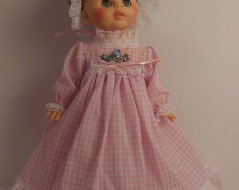 "Pink Gingham Long Dress Set for 15"" Horsman Ruthie Dolls"