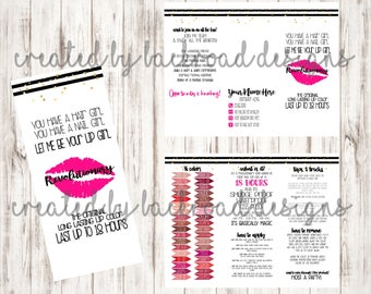 LipSense Brochure Lips - How to Apply - Tips & Tricks Insert - Information Pamphlet - You Print - Printable