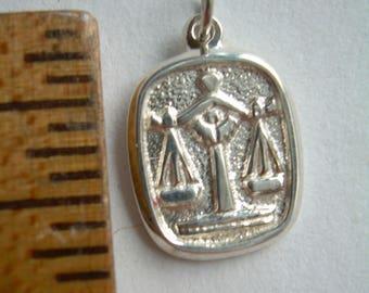 STERLING silver LIBRA PENDANT