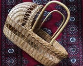 Vintage Wicker Baby basket