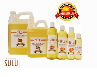 100% Pure Sweet Almond oil organic high quality refined Sweet Almond oil from 4 oz up to 7 lbs