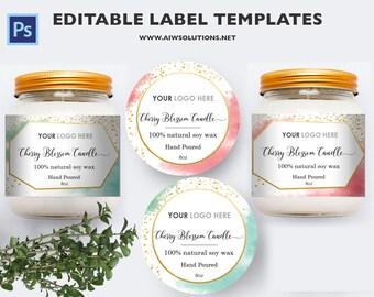2oz jar label 4oz label 8oz label template skin care label candle label bernardin jar labels bottlelabels candy labels diy food labels pronofoot35fo Gallery