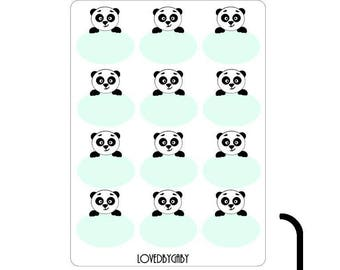 Panda, owl or deer stickers