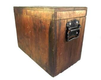 Elegant Vintage Wooden Storage Box, Rustic Wooden Box, Rustic Box, Wooden Tool Box,