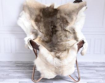 Reindeer Hide | Reindeer Rug | Reindeer Skin | Throw XL Large - Scandinavian Style #15RE13