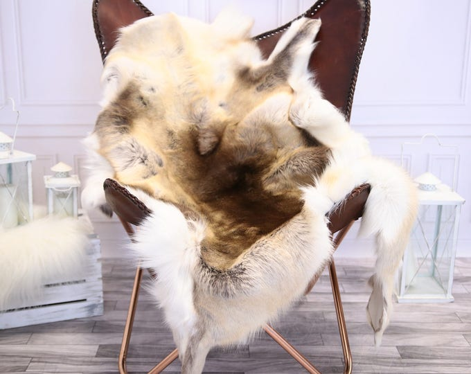 Reindeer Hide | Reindeer Rug | Reindeer Skin | Throw L  Large - Scandinavian Style #1RE1