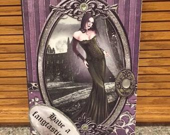 Custom, handmade, Twilight Vampire Birthday Card with envelope