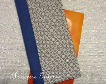 Family book cover - Cotton gray saki - in stock