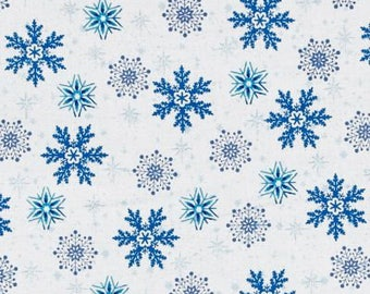 Christmas Tree Skirt-Snowflake Tree Skirt-Blue Snowflakes-Blue-White-Holiday Decor-Snow-Tree Skirt-Christmas Decoration- 42""