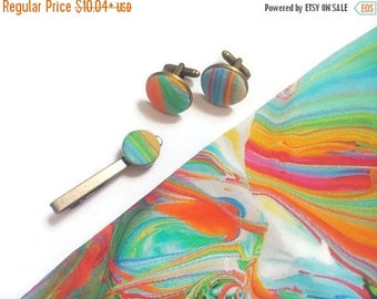 15% off for men gift idea daddy birthday gift dad aquarel cuff links rainbow tie clips pride bow tie watercolor mens tie rainbow pocket squa