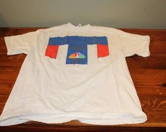 Vintage 1996 Atlanta Centennial Olympic Games  NBC T Shirt Size Large