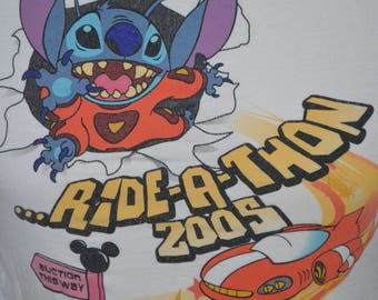 Vintage Walt Disney World Exclusive Ride-a-Thon Graphic T-Shirt (Size: S)