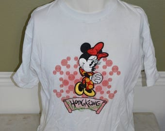 Vintage Disneyland Hong Kong - Minnie Mouse T-Shirt  (Size: L)