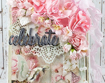 Shabby Chic Celebrate Greeting Card