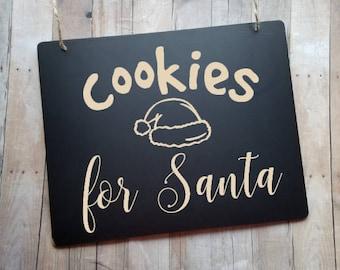 Cookies For Santa Christmas Sign - Christmas Photo Prop - Santa's Cookies - Photography Prop