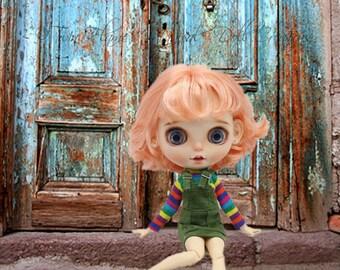 OOAK Custom Blythe Neo Doll – Ellie – Strawberry Blonde with teeth, tongue and ears. Blue eyes, brown eyes 1:6 1/6 Scale BJD