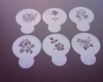 Valentines day cupcake stencils