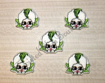 Set Of 5 Shopkin Cauliflower Felties