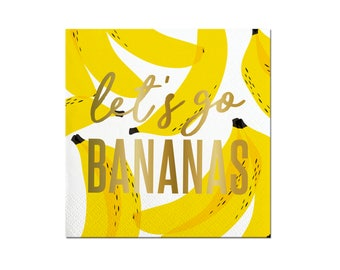 Bananas Napkins - Set of 20 - Lets Go Bananas