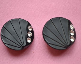 lot button sewing black 25mm