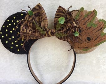 Groot themed mouse ears