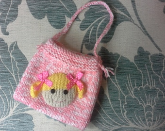 Hand Knitted child's bag