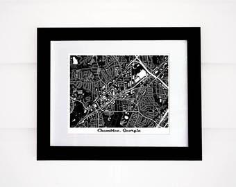 Chamblee Map, GA Map Print, Atlanta area map