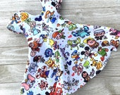 18 Inch and 14 Inch Doll Dress with Disney Characters and Princesses