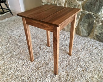 Solid Walnut End Table