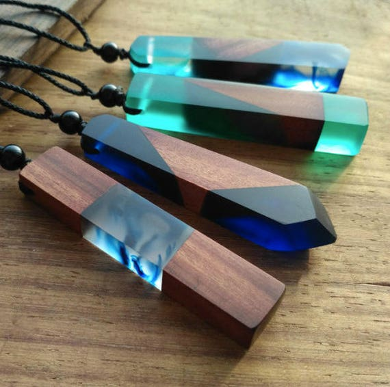 resin wood necklace epoxy resin mom gift wood resin. Black Bedroom Furniture Sets. Home Design Ideas