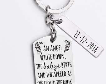 Memorial key chain, infant loss key chain, Remembrance gift, bereavement, sympathy gift, loss of child, daddy of an angel, mommy of an angel