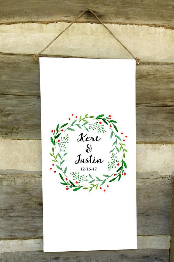 Wedding Backdrop -  Wedding  - Christmas Personalized - Wedding Wreath - Wedding Christmas Colors - Southern Weddings - Wedding Backdrops