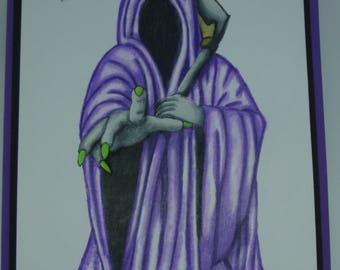Halloween Card.  The Grim Reaper.