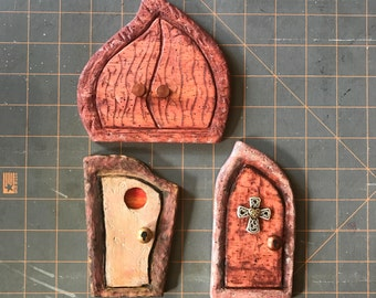 Finished Fairy House Door, Your Choice of Style and Shape