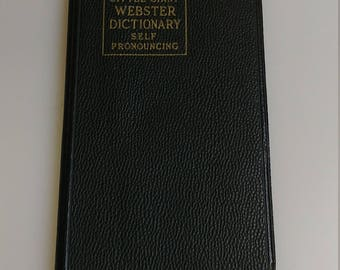 Webster Little Dictionary, Little Giant Dictionary, Copywriter 1943, World Publishing Company, WEBSTER DICTIONARY self pronouncing