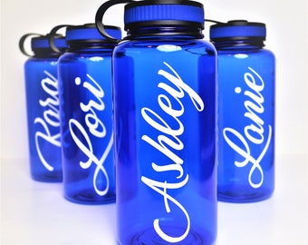 Water Bottle // Gym Bottle // Bridesmaid Gift // Bachelorette Party Cups // Bridesmaids Water Bottle // Destination Wedding Favor // 34oz