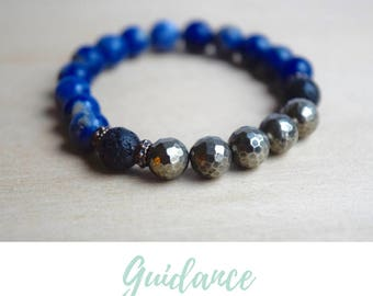 Sodalite Bracelet / gift from daughter, coworker gift, nature lover, gifts from godmother, best yoga gifts, good vibes only,psychic guidance