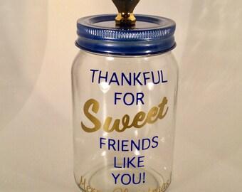 Personalized Candy Jar - Mason Jar - Candy Jar Gift for Friend