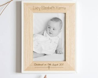 Christening Picture Frame, Personalised Christening Keepsake, Baby Christening, Personalised Christening Gift, Babtism