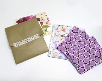 Kit ALL IN gift for teacher Set of 3 Reusable makeup remover pads Face wipes and pocket