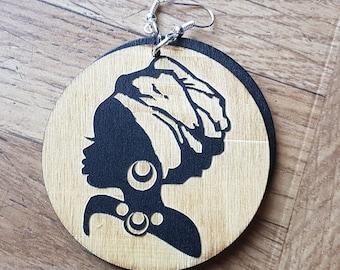 Stud Earrings - AfricanQueen Earings - AfricanQueen Earings wood - wood earrings