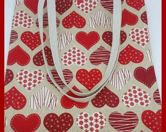 "Beautiful large bag ""hearts"" very trendy."