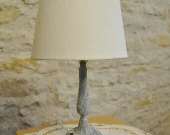 Grey small bedside lamp