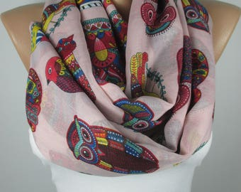 Owl Scarf Cat Scarf Bird Scarf Animal Scarf Women Fashion Accessories Gift For Her