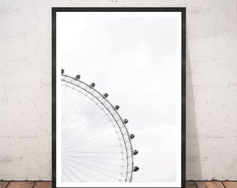 Ferris Wheel Photography Print Photography Decor Wall Art Home Decor Modern