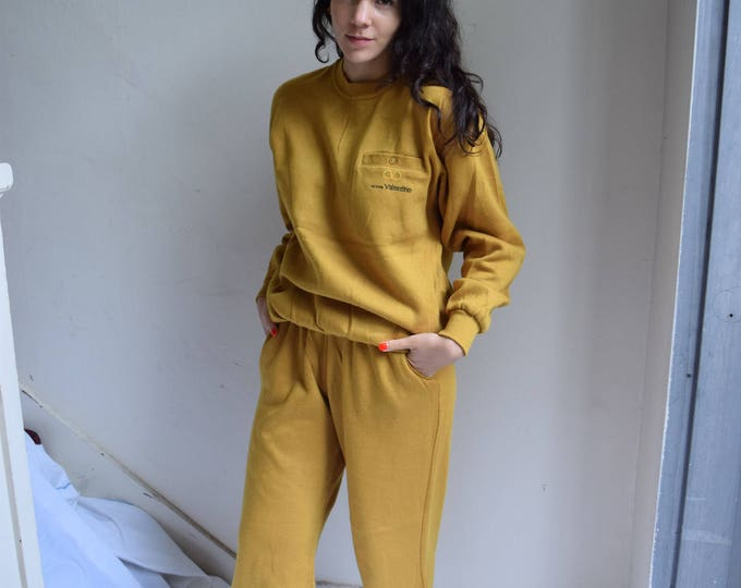 90s Victory Valentino Mustard Yellow Track Suit