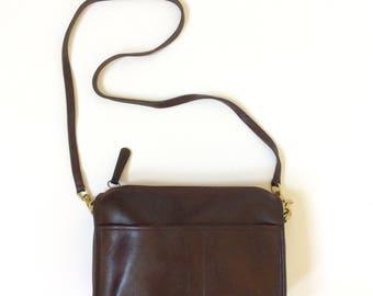 Burgundy leather Coach bag vintage brown coach purse vintage leather coach cross body bag coach brown leather purse authentic vintage coach