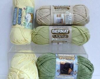 Bernat Yarn, Organic Cotton Yarn for Knitting 100% Baby Cotton, Bernat Cool Crochet Yarn Cotton Blend Craft Destash for Handmade Cotton Gift