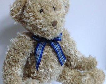 Vintage Teddy Bear Stuffed Teddy Bear Toy Large Heirloom Teddy Cuddly Collectible Bear Winnie Russ Rufus Ryan Kipling Benedict Style Bear